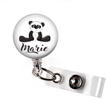 Personalized Panda Bear | Badge Reel | P032 | Badges and Buttons Club