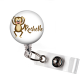 Personalized Monkey | Badge Reel | P036 | Badges and Buttons Club