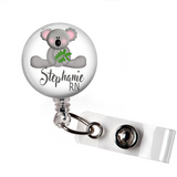 Badge Reel | Personalized Koala Bear | Badges and Buttons Club