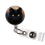 Badge Reel | Beautiful Black Cat | NC001 | Badges and Buttons Club
