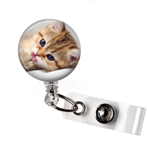 Badge Reel | Silly Cat - badges-and-buttons-club