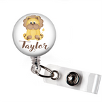 Personalized Lion | Badge Reel | P031 | Badges and Buttons Club