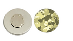 Magnetic Pin Back |  Green and Tan Camo - badges-and-buttons-club