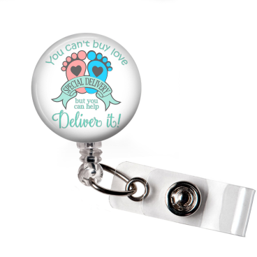 Badge Reel | Special Delivery | Delivery Nurse - badges-and-buttons-club