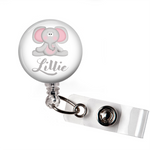 Badge Reel | Personalized Baby Elephant - badges-and-buttons-club