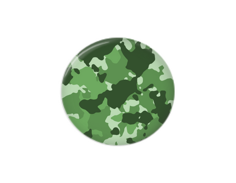 Button | Green Camo | Badges and Buttons Club