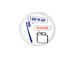 Button | I hate my job | Funny - badges-and-buttons-club