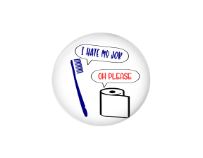 Button | I hate my job | Funny | Badges and Buttons Club