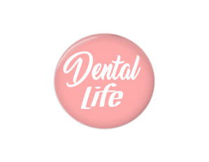 Button | Dental Life | Pink Background | Badges and Buttons Club