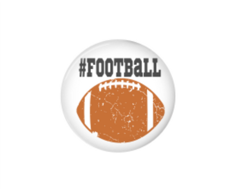 Button | Distressed Football - badges-and-buttons-club