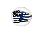 Button | Back the Blue Flag | Badges and Buttons Club