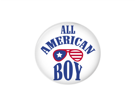 Button | All American Boy | Badges and Buttons Club