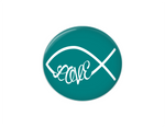 Button | Faith based love | Turquoise Background - badges-and-buttons-club