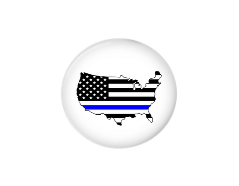 Button | US Back the Blue | Badges and Buttons Club
