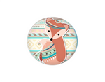 Button | Aztec Fox - badges-and-buttons-club