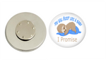 Magnetic Pin Back | You will sleep like a baby | Blue | Anesthesiologist | Badges and Buttons Club
