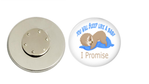 Magnetic Pin Back | You will sleep like a baby | Blue | Anesthesiologist - badges-and-buttons-club