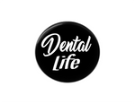Button | Dental Life | Black Background | Badges and Buttons Club