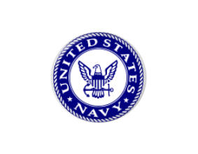 Button | US Navy | Blue Background | Badges and Buttons Club