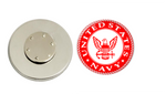 Magnetic Pin Back | US Navy | Red Background | Badges and Buttons Club