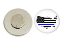 Magnetic Pin Back | US Back the Blue - badges-and-buttons-club