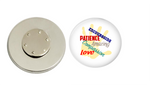 Magnetic Pin Back | Teacher helping hand | Badges and Buttons Club