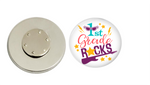 Magnetic Pin Back | 1st grade Rocks - badges-and-buttons-club