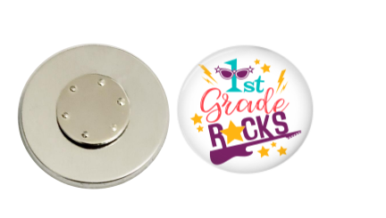 Magnetic Pin Back | 1st grade Rocks | Badges and Buttons Club