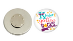 Magnetic Pin Back | Kindergarten Rocks | Badges and Buttons Club