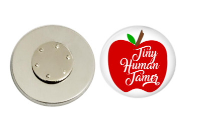 Magnetic Pin Back | Tiny Human Tamer | Badges and Buttons Club