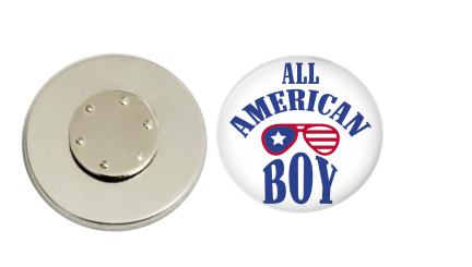 Magnetic Pin Back | All American Boy - badges-and-buttons-club
