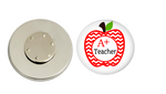 Magnetic Pin Back | A+ Teacher | Badges and Buttons Club