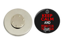 Magnetic Pin Back | Keep calm and pretend it is on the lesson plan - badges-and-buttons-club