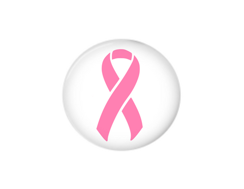 Button | Breast Cancer Awareness | White Background | Badges and Buttons Club