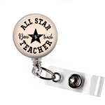 All Star Teacher | Badge Reel | N055 | Badges and Buttons Club