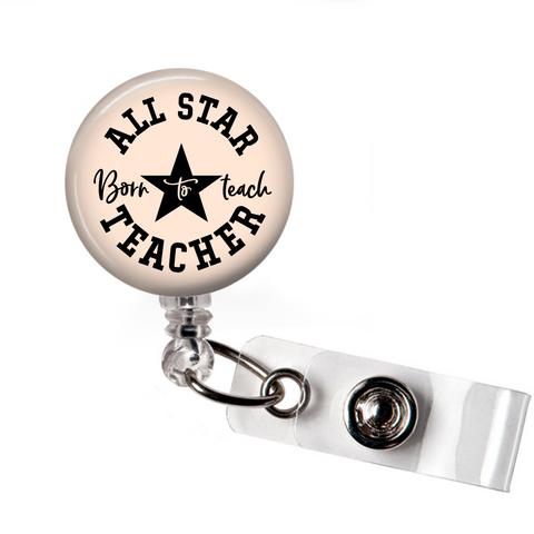 All Star Teacher | Badge Reel - badges-and-buttons-club