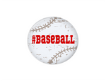 Button | Distressed Baseball | White - badges-and-buttons-club