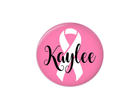 Button | Breast Cancer Awareness | Pink - badges-and-buttons-club