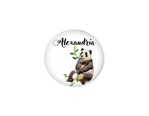 Button | Personalized Panda - badges-and-buttons-club