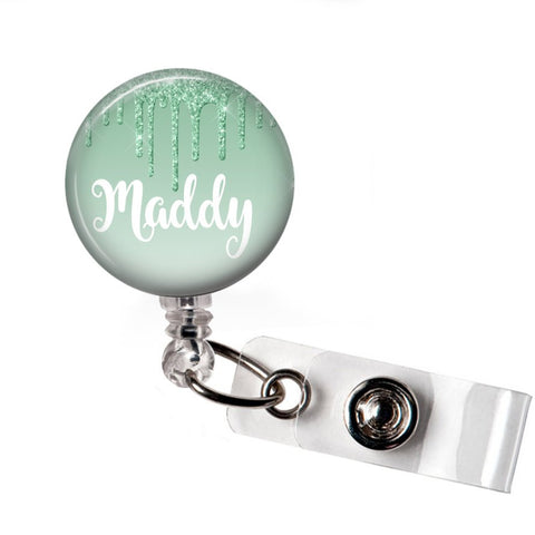 Green Drip | RN Badge Reel | P047 | Badges and Buttons Club