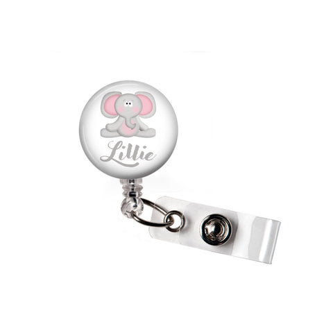 Elephant | Personalized Badge Reel | Badges and Buttons Club