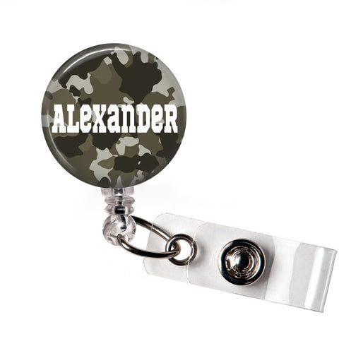 Dark Grey Camo | Badge Reel | P025 | Badges and Buttons Club