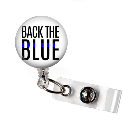 Back the Blue Badge Reel | Badges and Buttons Club