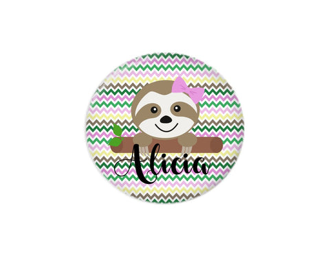 Button | Sloth Colorful Background - badges-and-buttons-club