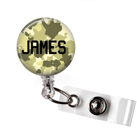 Light Green Camo | Badge Reel | Badges and Buttons Club
