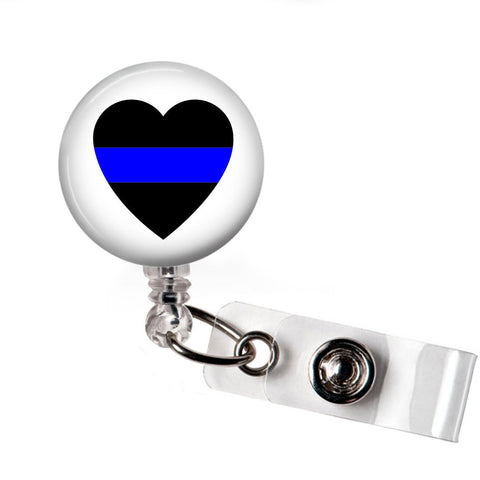 Blue Line Badge Reel - badges-and-buttons-club