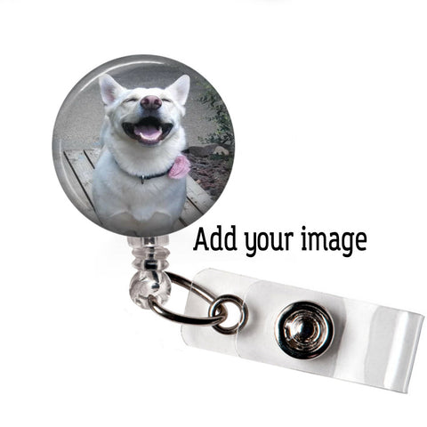 Custom Photo Badge Reel | Add Your Photo | Badge Reel Holder | Badges and Buttons Club