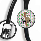 Interchangeable Personalized Stethoscope ID tag, S006 | Badges and Buttons Club