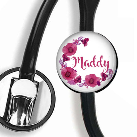 Interchangeable Personalized Stethoscope ID tag, S012 | Badges and Buttons Club