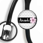 Interchangeable Personalized Stethoscope ID tag, S021 | Badges and Buttons Club